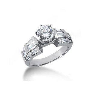 3 carat round diamonds anniversary ring white gold